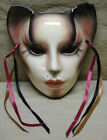Clay Art Lady Feline Cat Deco Ceramic Wall Mask 1989 About Face