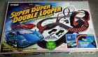 Tyco Super Duper Double Looper Set Complete w/Orig Box 2 Cars + 2 Extra Bodies