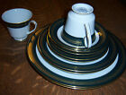 Legacy Noritake Coventry 2797 set of 10 white with green and gold trim china lot