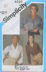 Simplicity 6529  Sz 12 Misses Easy to Sew DOLMAN SLEEVE BLOUSES Pattern     JF