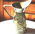 Antique Estate Jenny Jones Brass Embossed Pitcher~England