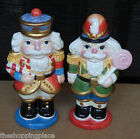 FF FITZ & FLOYD ESSENTIAL SALT PEPPER SHAKER NUTCRACKER SWEETS CHRISTMAS HOLIDAY