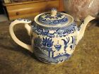 House of Blue Willow 1899 Teapot with lid blue and white - SCT