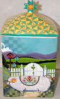 Jim Shore BARNYARD Large Canister RAM Rooster NEW Ceramic Farm House Kitchen