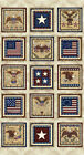 RJR Fabric Pride and Glory Patriotic Star Flag Eagle Panel with Cream Background
