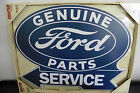 18 X 14 SHAPED WOODEN SIGN GENUINE FORD PARTS WALL DECOR PLAQUE NEW
