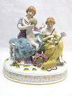 19th Cen.Multi-Color German Sitzendorf Amor Fruit  Longevity Porcelain Figurine