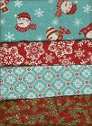 Moda Deb Strain Winter Be Jolly Snowman Cotton Quilt Fabric 2 yd NEW!