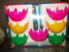 Blow Mold Flower Petal String Lights Lites RV Camping Party Patio Vintage NEW