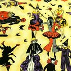 Halloween Masquerade Adult Costume Party Witches Cats Cotton Fabric Fat Quarter
