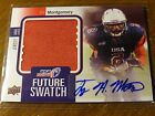 2012 UD UPPER DECK USA FOOTBALL TY MONTGOMERY #D 2 5 JERSEY AUTO SIGNED 2015 RC