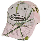 Team Realtree Brand Women Ladies Camouflage Pink Hunting Velcro Outdoors Hat
