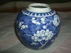 ANTIQUE CHINESE LIGHT BLUE AND WHITE PRUNUS GINGER JAR