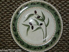 NEW ONEIDA OLIVETO SALAD PLATE OLIVES ON VINES GREEN TAN CREAM SCALLOPED EDGE