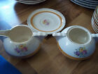 The French Saxon China Co. SUGAR BOWL,CREAMER & SAUCER Made In Sebring Ohio