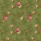 RJR Robyn Pandolph Incarnadine Green Shabby Smaill Floral Pink Green Fabric