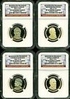 2011 S 1 NGC PF69 ULTRA CAMEO ANNUAL PROOF PRESIDENTIAL 4 COIN DOLLAR SET