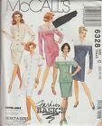 McCalls PATTERN 6328 Misses One or Two Piece DRESSES 10-12-14 UNCUT ©1993