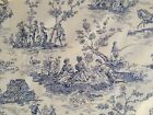 FOUR SEASONS WAVERLY FABRIC UPHOLSTERY BLUE 60