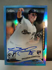 2014 Topps Chrome Autograph BLUE Refractor JIMMY NELSON RC AUTO #26 199