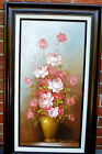 ORIGINAL  ROBERT COX SIGNED FLORAL IMPRESSIONIST PAINTING /WOOD FRAME