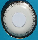 Noritake Occupied Japan Saucer, Goldbeam pattern, Gold Laurel on Black