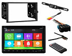Double Din Bluetooth Stereo Radio Install Mount Kit Harnes Anttena Backup Camera