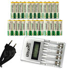 12 AA + 12 AAA 1350mAh 3000mAh NiMH 1.2V Rechargeable Battery EU LCD Charger BTY