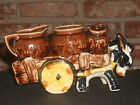 Vintage Set Donkey and Cart Salt and Pepper w/Sugar and Creamer
