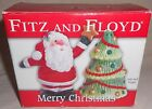 Fitz and Floyd Salt & Pepper Shaker Set - Santa Claus Christmas Tree 2006