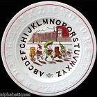 ABC Childs Plate TEDDY BEARS BIRTHDAY PARTY Staffordshire Double Alphabet c1860