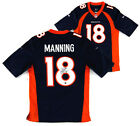 Peyton Manning Signed Denver Broncos Nike Authentic Blue Jersey