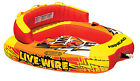 NEW AIRHEAD AHLW 2 Live Wire 2 Inflatable 1 2 Rider Boat Towable Lake Water Tube