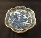 Antique Caughley blue willow lobed dish 18th century