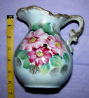 Vintage Antique Royal Crown Fine China Hand Painted Ewer Pitcher Vase Ceramic