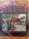 Vintage Pauline Denham Covered Bridge Crewel Embroidery Kit Sealed