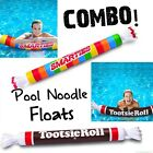 Smarties Candy  Tootsie Roll Inflatable Swimming Pool Noodles Float COMBO