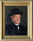 PORTRAIT OF AN OLDER MAN with SIDE WHISKERS, GLASSES and HAT