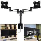Goplus Dual LCD Monitor Arms Fully Adjustable Desk Mount Stand 2 Screen upto 25