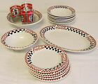 COCA-COLA Gibson Checkered Flag Lot ~ Bowls, Plates, Glasses