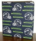 NFL Bears Cowboys Steelers Panthers Falcons 49er &more Fabric 3ring Binder cover
