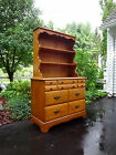 VTG MAPLE WOOD SIDEBOARD BUFFET CHINA CABINET CREDENZA HUTCH CUPBOARD DRESSER