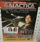 BATTLESTAR GALACTICA COLONIAL WARRIORS TRADING CARDS  SELL SHEET 8 1 2 x11