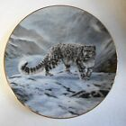 Collector Plate Charles Frace  FLEETING ENCOUNTER 1991 WS George Snow Leopard