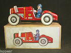 Vintage Style Repro Open Wheel Red Racer WIND-UP Tin Plate Race Car Retro U830