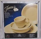 Homer Laughlin Fiesta Ivory 5 Piece Place Setting 830 330 1ST QUALITY NEW IN BOX