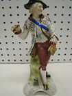 Antique Hand painted Sitzendorf Porcelain Man with Pipe 8.75
