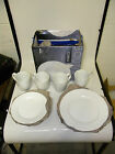 CORELLE Boutique Swept Embossed 12-pc Dinnerware Set