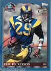 RARE ERIC DICKERSON SIGNED TOPPS HOF CERTIFIED AUTO CARD FOOTBALL HALL OF FAME