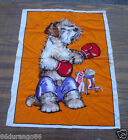 VINTAGE PANEL TIME WESCO RELTEX BOXING BOXER DOG TERRIER WALL FABRIC PANEL QUILT